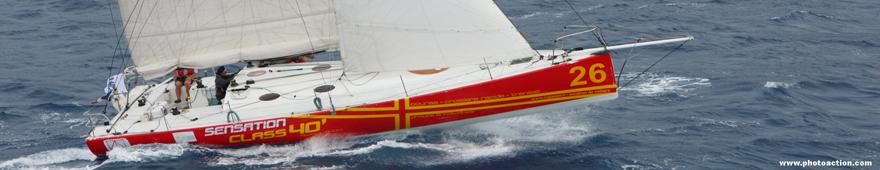 embarquez ou louez pour une traversée de l'Atlantique un Class 40' de la Route du RHUM 2010