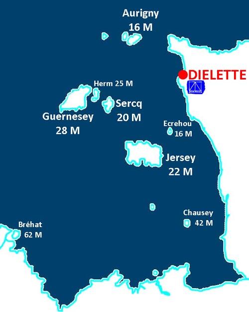 au coeur des �les Anglo-Normandes, Jersey, Guernesey, Sercq et Aurigny � moins de 30 milles !
