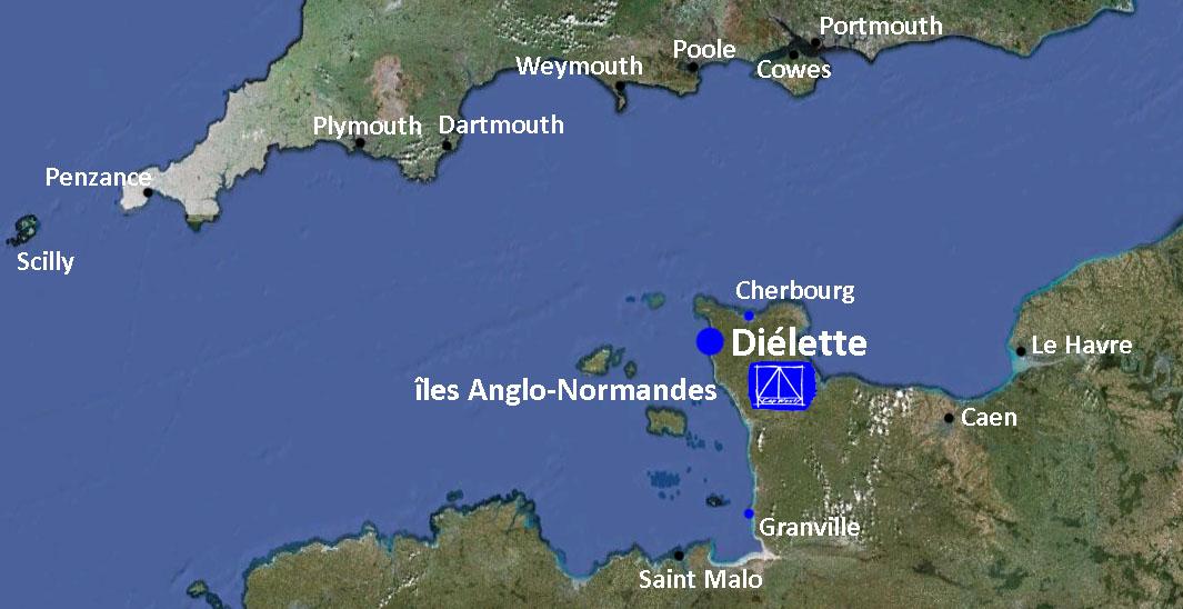 Diélette, une base avancée en Manche