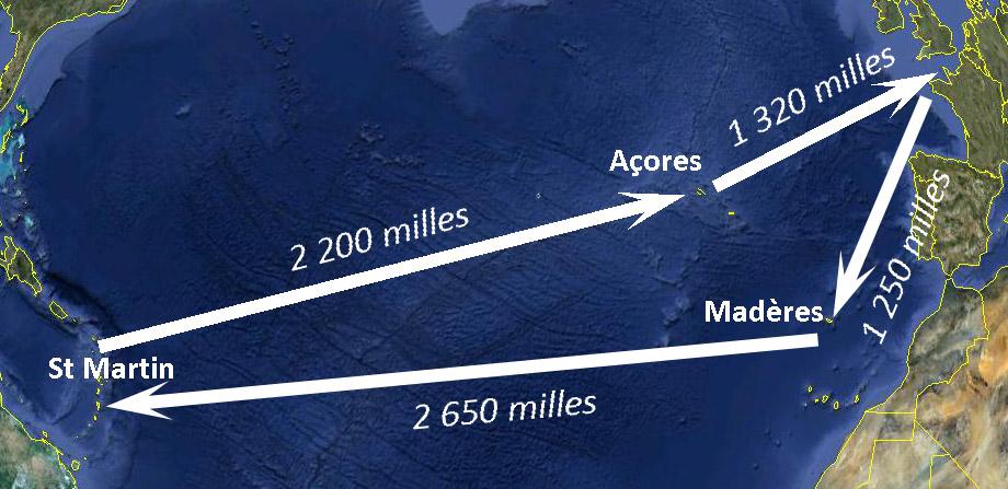 transatlantique sur un voilier de course au large